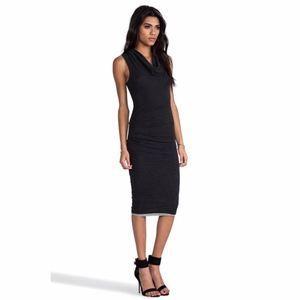 NEW James Perse Black Sleeveless Cowl Neck Dress M